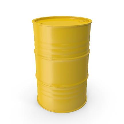 Barril de metal amarillo limpio