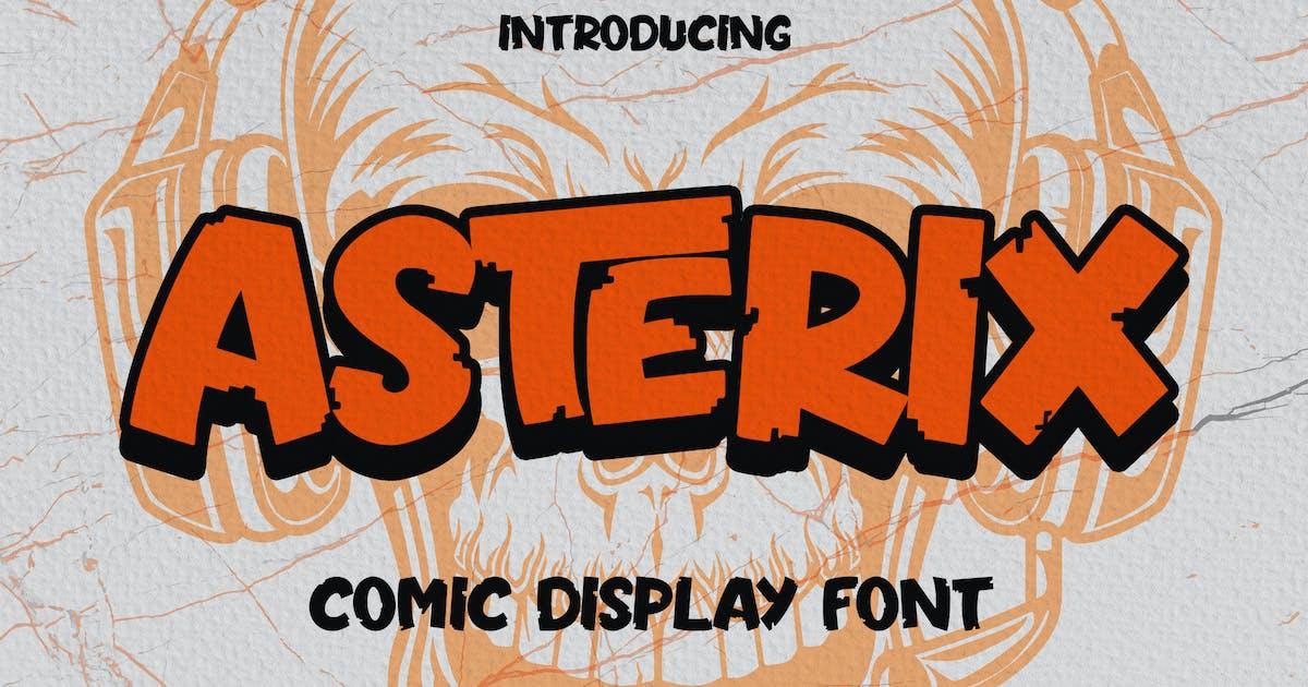 Download Asterix - Comic Display Font by arendxstudio