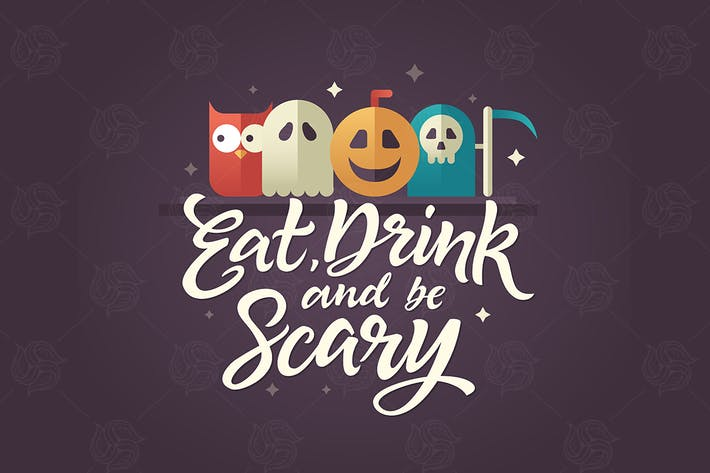 Eat, drink and be scary - Halloween card