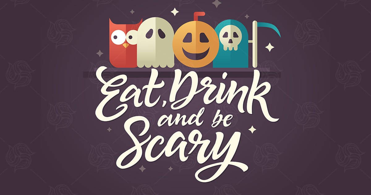 Download Eat, drink and be scary - Halloween card by BoykoPictures