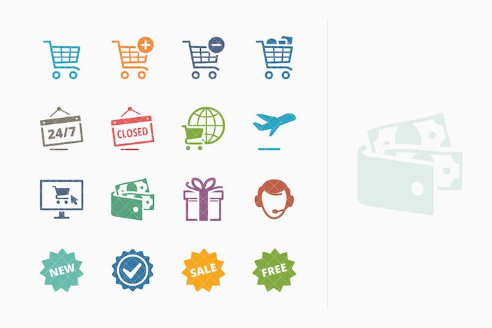 Thumbnail for E-commerce Icons Set 2 - Colored Series