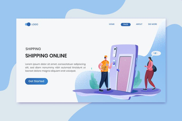 Thumbnail for Fast Delivery Header Landing Page