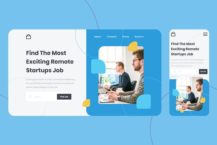 Thumbnail for Startup Job Landing Page Design