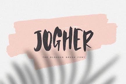 Jogher - La police de pinceau Blogger