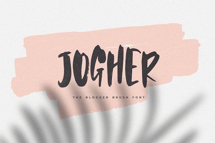 Jogher - The Blogger Brush Font