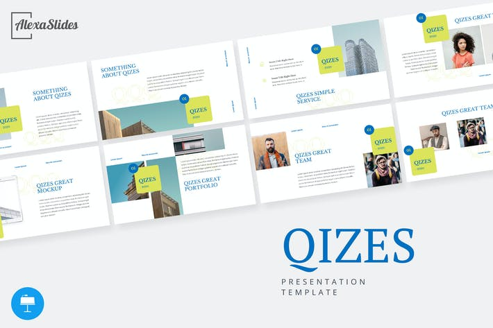 Thumbnail for Qizes - Creative Keynote Template