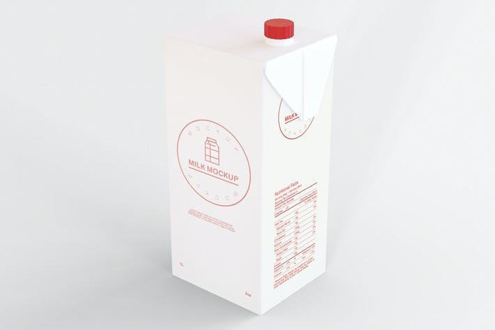 Thumbnail for Milchflasche Mockup