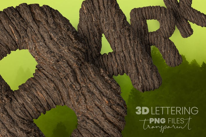 Thumbnail for Bark 3D Lettering