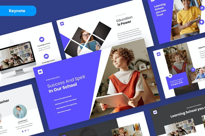 Thumbnail for QUIPLE - Education Keynote Presentation Template