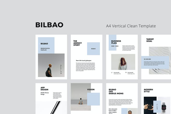 Thumbnail for BILBAO - A4 Vertical Powerpoint Template