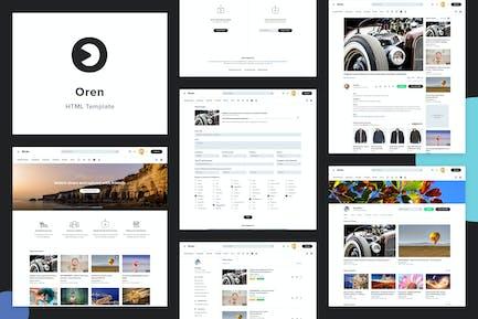 Oren - A Video Sharing HTML Template