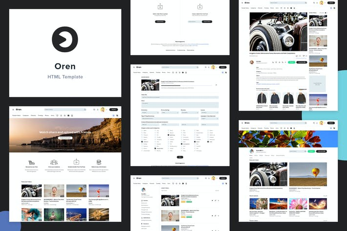 Thumbnail for Oren - A Video Sharing HTML Template