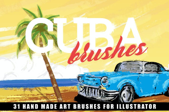 Thumbnail for Cuba Illustrator Brushes