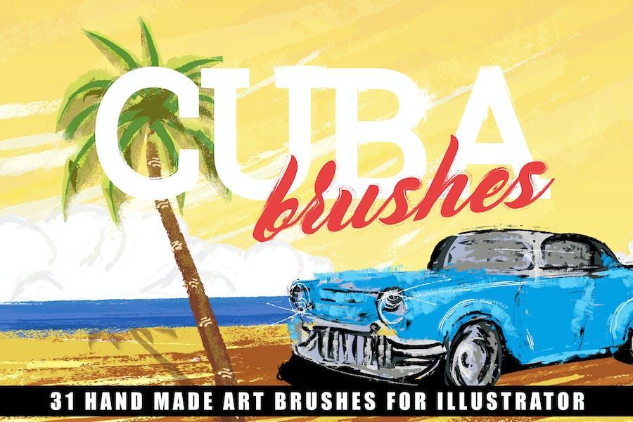 Cuba Illustrator Brushes