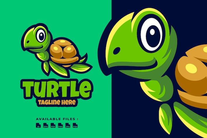 Thumbnail for Turtle Cartoon Logo