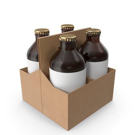 Flaschenhalter mit Bier