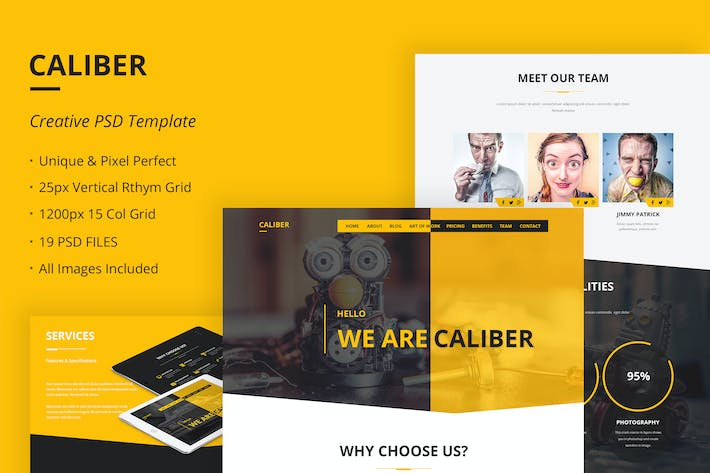 Thumbnail for Caliber - Creative Multi Purpose PSD Template