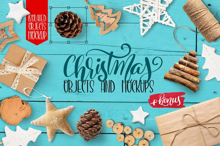 Thumbnail for Christmas isolated objects and mockups