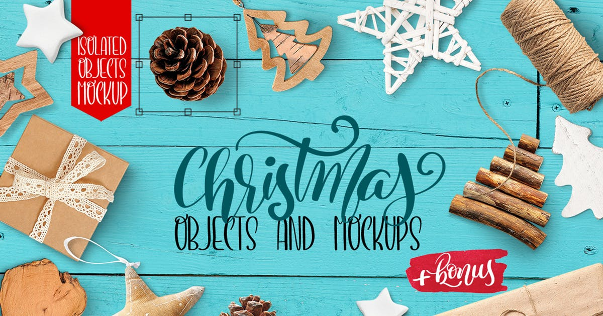 Download Christmas isolated objects and mockups by timonko