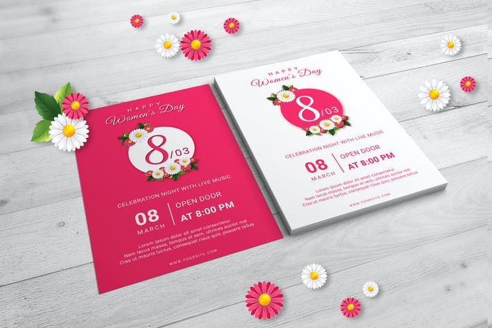 Thumbnail for Happy Womens Day Flyer Templates