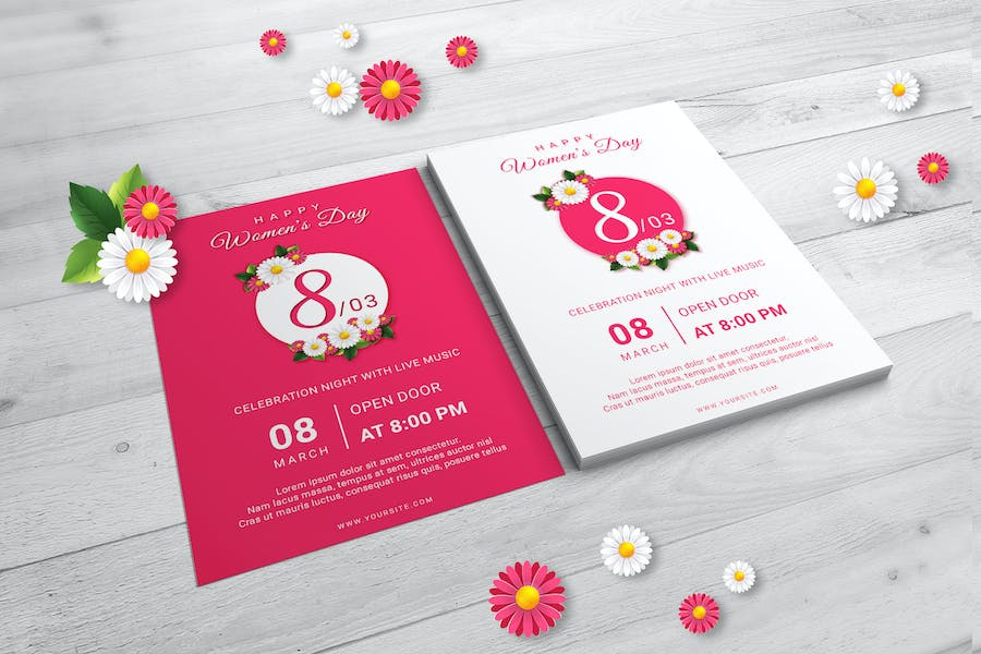 Happy Womens Day Flyer Templates