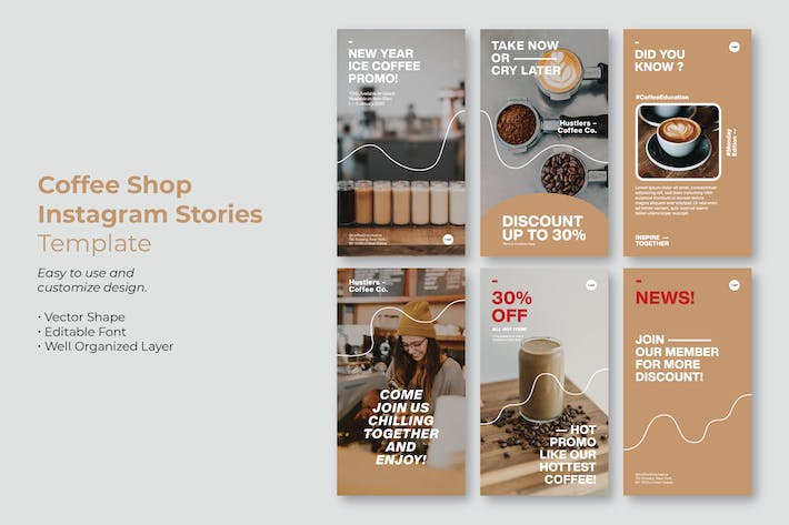 Simple Coffee Shop Instagram Story Template