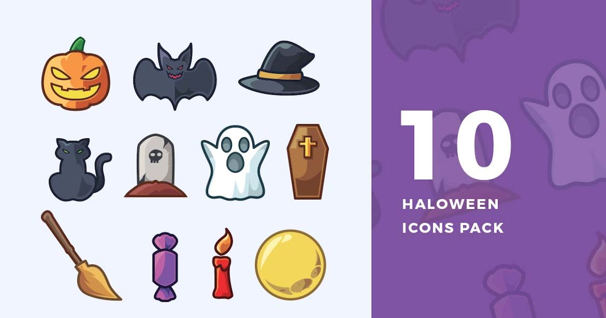 Download 10 Halloween Icons Pack by ovozdigital