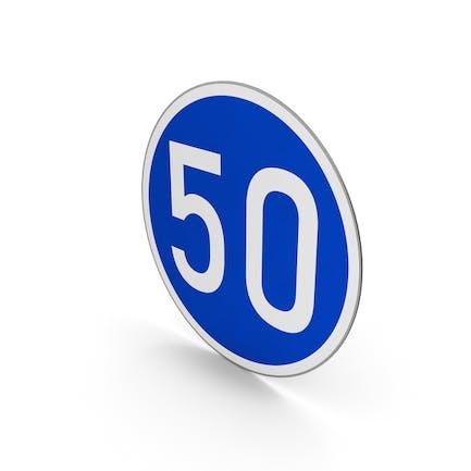 Road Sign Minimum Speed Limit 50