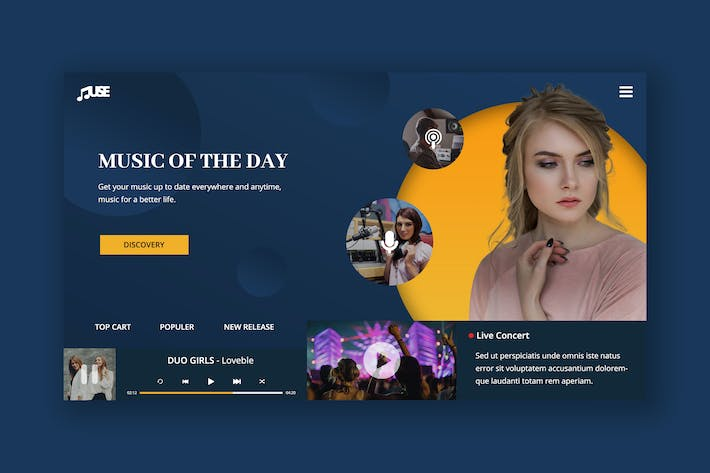 Thumbnail for Music Entertainment Hero Header Template