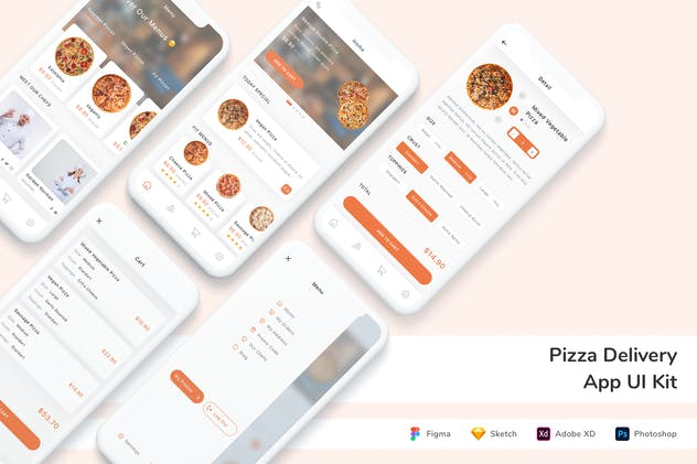 Pizza Delivery App UI Kit