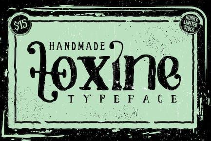 TOXINE tipografía + Pack ornamento