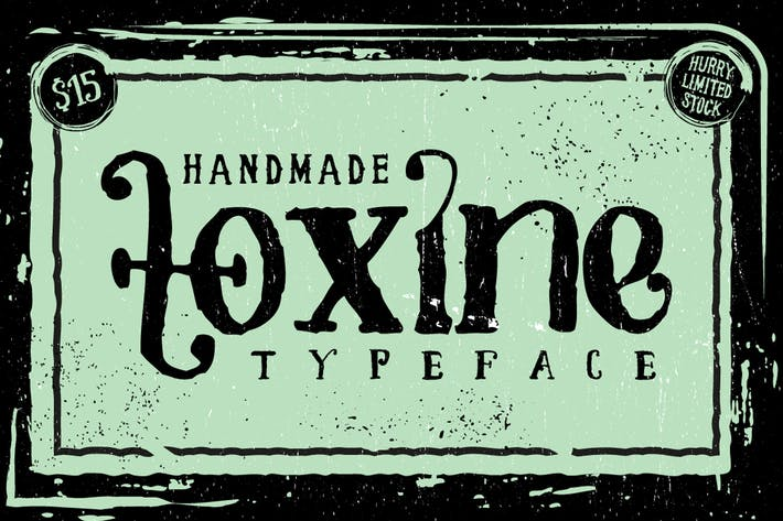 Thumbnail for TOXINE typeface + Ornament pack