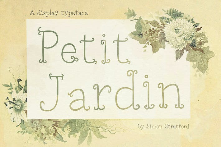 Cover Image For Petit Jardin font