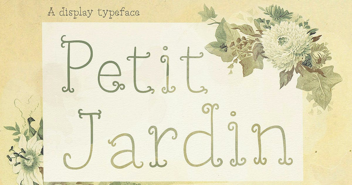 Download Petit Jardin font by simonok