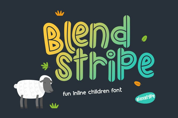 Blendstripe - Fun Inline Children Font