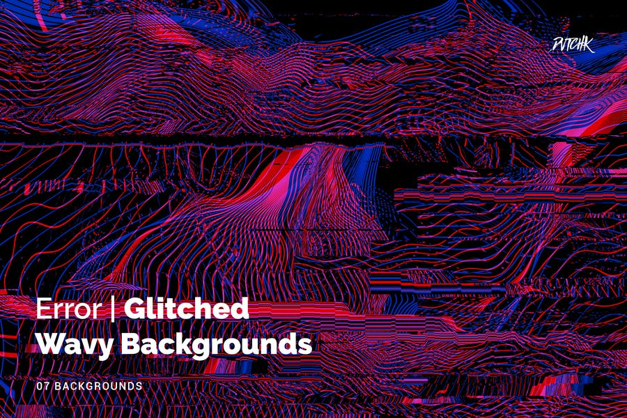 Error | Glitched Wavy Backgrounds