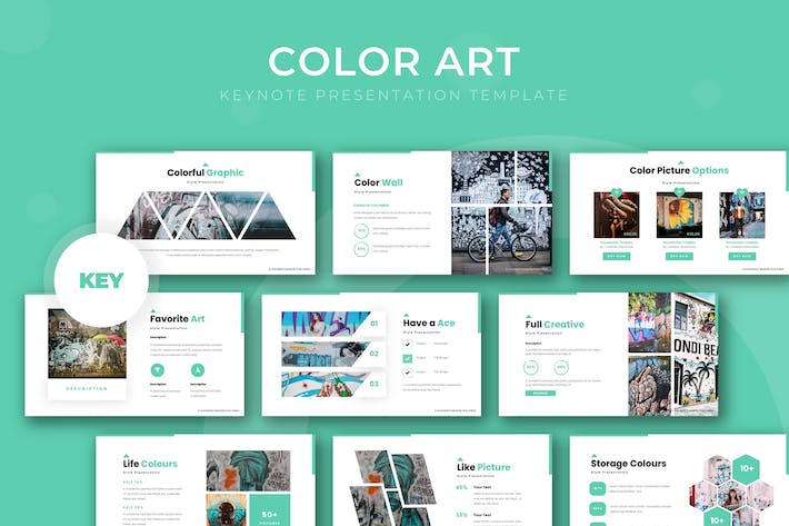 Thumbnail for Color Art - Keynote Template