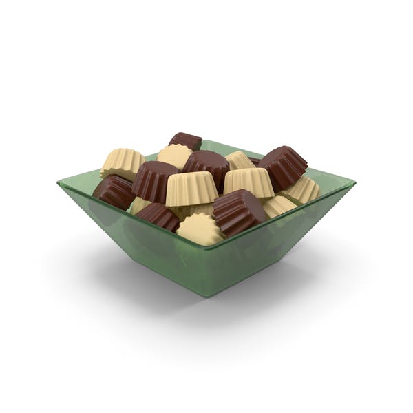 Glass Bowl With Chocolates
