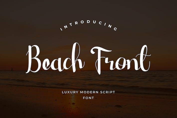 Пляж фронт сценарий рукописный шрифт