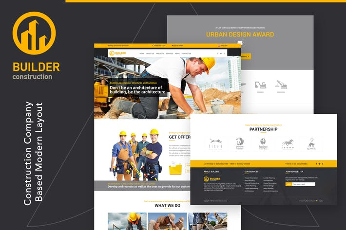Thumbnail for Builder | Modèle HTML de construction