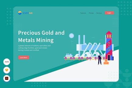 Mineral Mining - Webiste Header - Illustrations