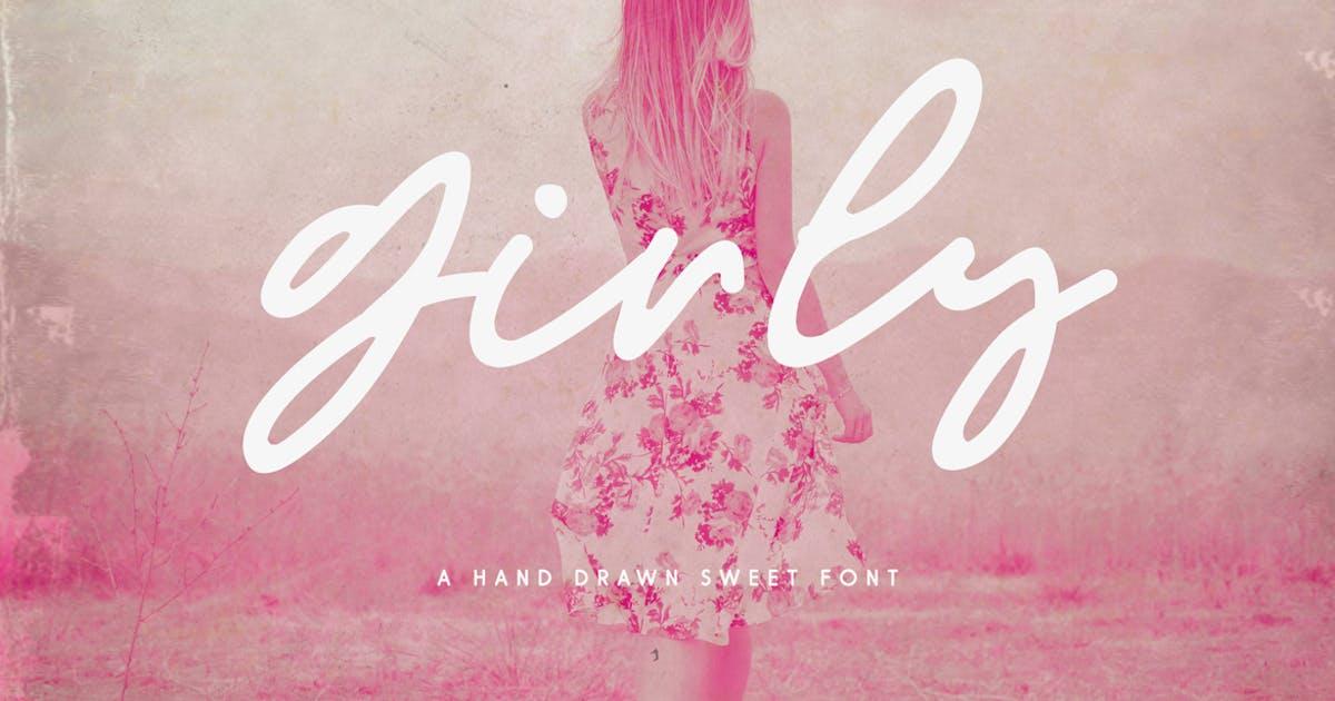 Download Girly Feminine Script Font by pixelcolours