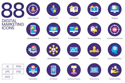 Icons für digitales Marketing (PNG)