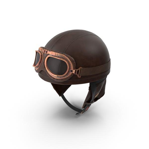 Thumbnail for Retro Aviator Helmet