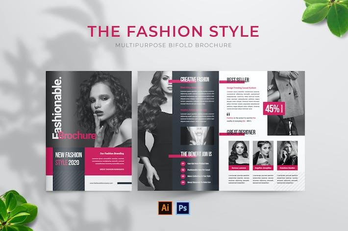 Thumbnail for Fashion Style Bifold Brochure
