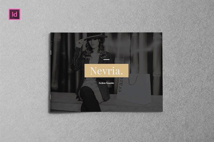 Thumbnail for NEVRIA -  A5 Landscape Lookbook template
