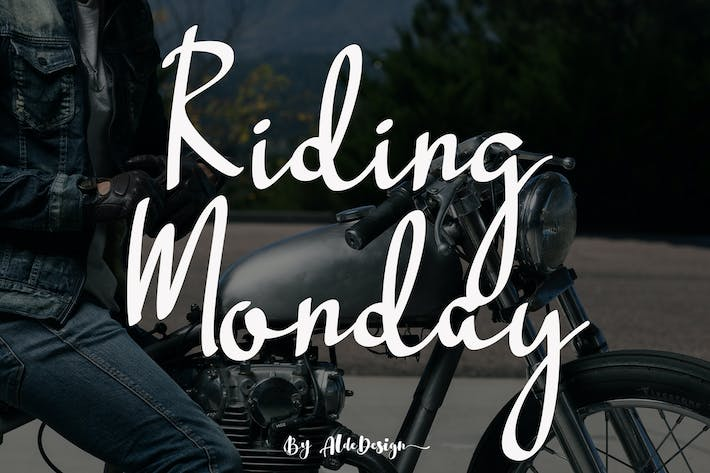 Thumbnail for Riding Monday - Signature Font