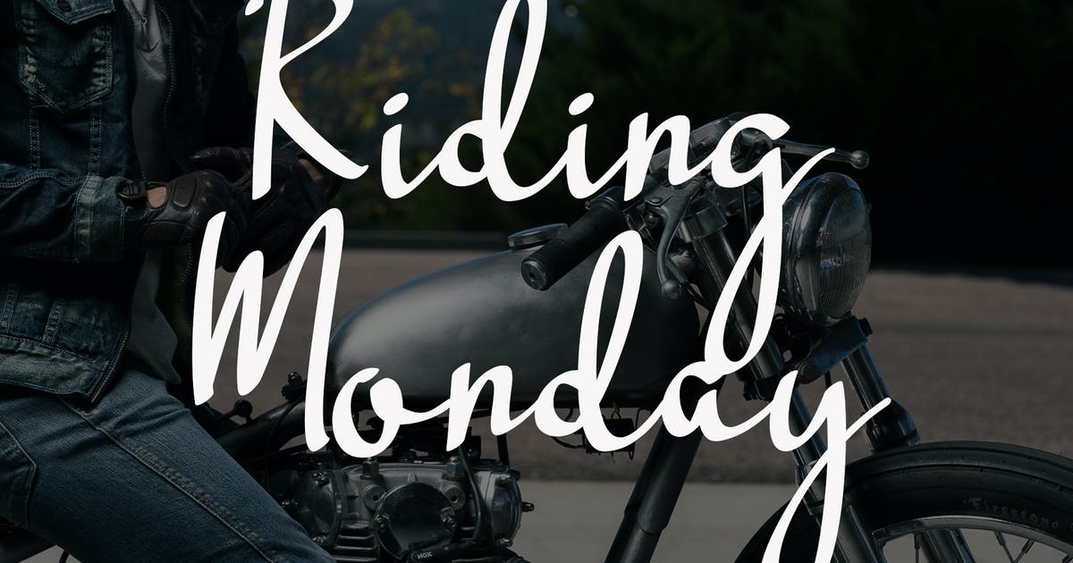 Download Riding Monday - Signature Font by aldedesign