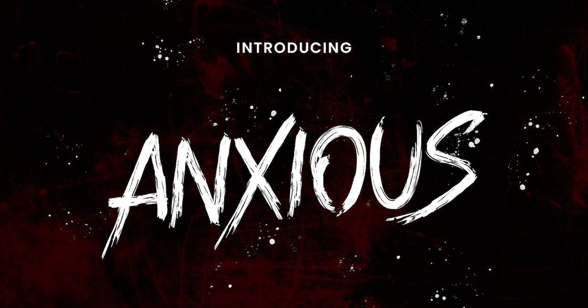Download Anxious Brush Font by maulanacreative