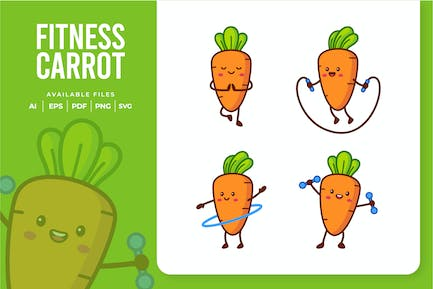 Cute Fitness Carrot